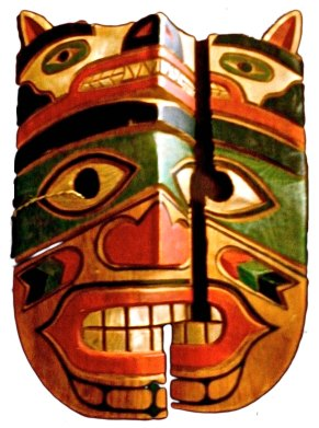 NUU-CHAH-NULTH [NOOTKA] CEREMONIAL MASK